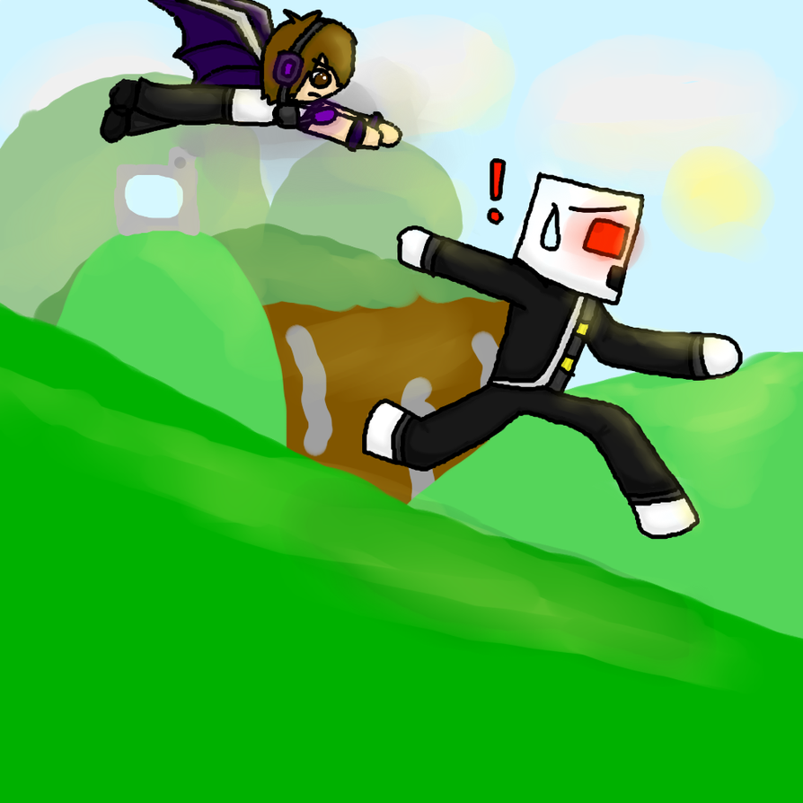 Enderlox Chases Israphel by Thy-xin on DeviantArt