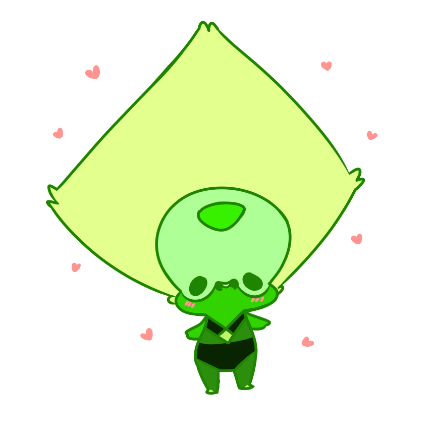 Peridot what even are you? You're just a blob of squish. Can you even? Guys i felt like we needed a bit of sweet peridot so i made her, but she isnt the same lmao. what even is she. what have i don...