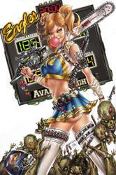 Cheerleader vs Zombies, J. Tyndall by ulamosart