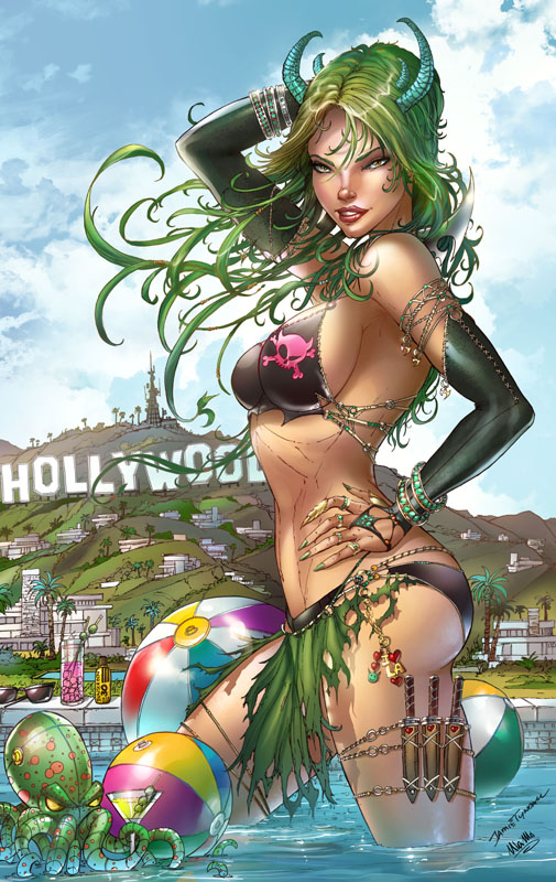 Zenescope Bad Girls #2 Comikaze exc., J. Tyndall by sinhalite