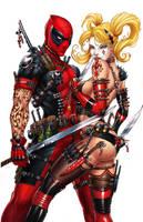 Harley Quinn and Deadpool, J. Tyndall by ulamosart