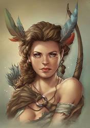 Huntress, Colors by ulamosart