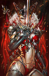 Zenescope GFT Quest #3 pencils: J. Tyndall by ulamosart