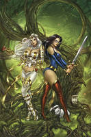Zenescope GFT vs. Wonderland 2C, pencils: M. Krome by ulamosart