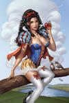 Zenescope GFT Snow White #5E, pencils: M. Dooney