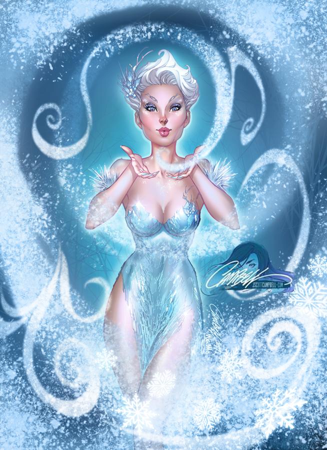 Winter Fairy 2017 print, pencils: J.Scott Campbell by ulamosart