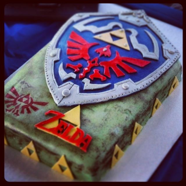 Legend Of Zelda Hylian Shield Cake By Browneyedgirl73 On