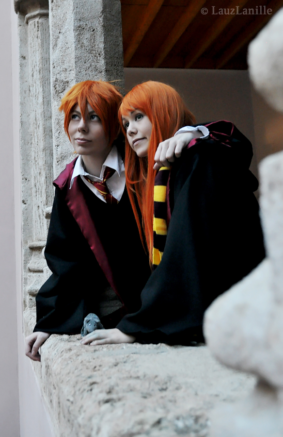 Ron and Ginny by LauzLanille