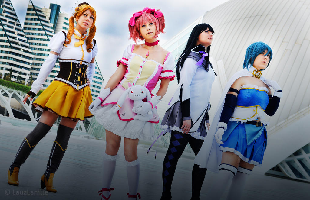Madoka Magica group by LauzLanille