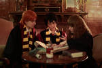 Harry Ron nd Hermione