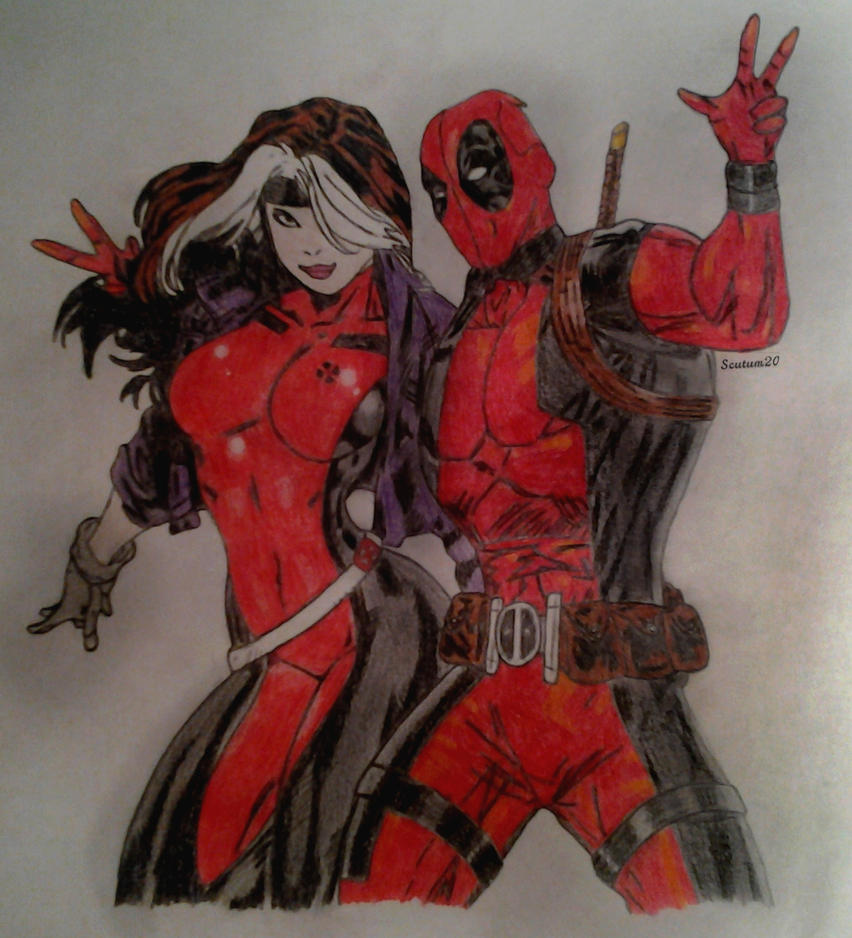 Deadpool and Rogue by Scutum20