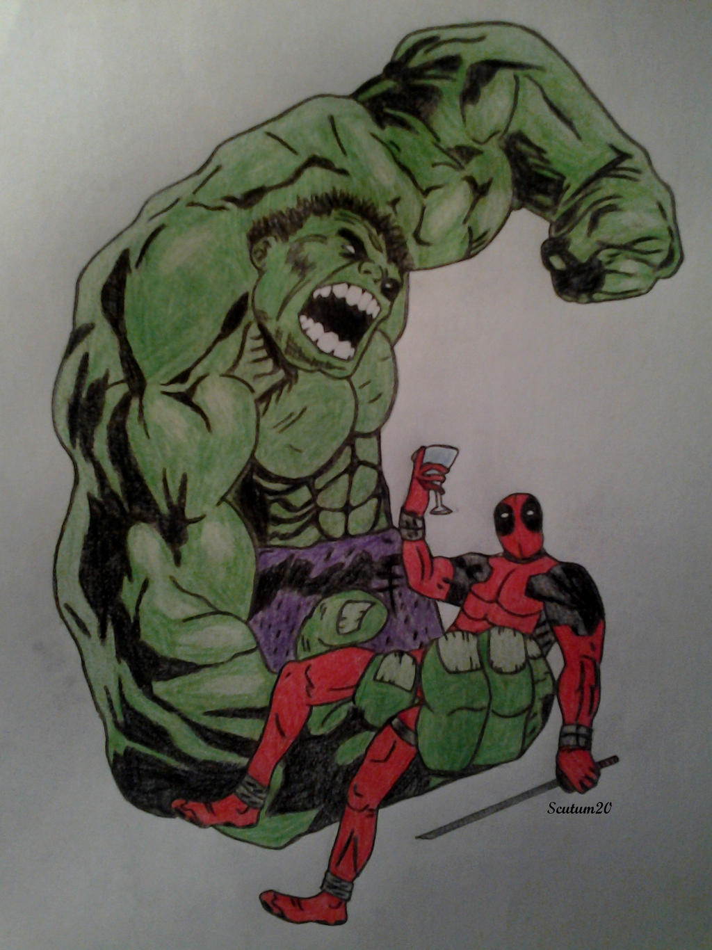 Deadpool and Hulk by Scutum20