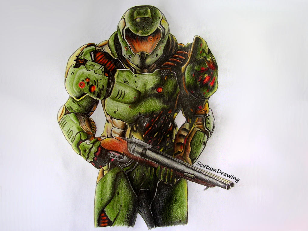 Doom Marine Doomguy By Scutum20 On Deviantart