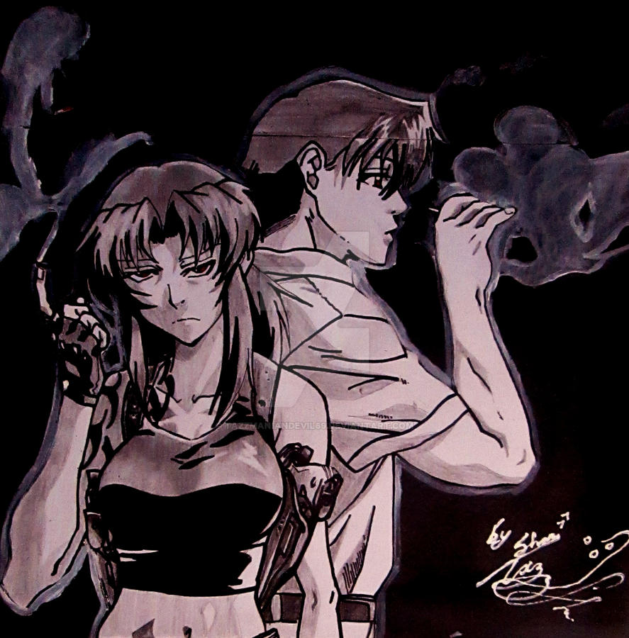 black lagoon revy and rock by tazzmaniandevil69 on deviantart