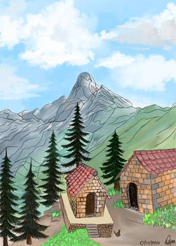 the village in the montagne by Autodesk sketch