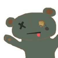 free dead teddy bear icon (blue) by candydesufox