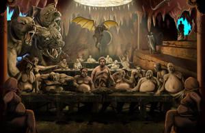 Gluttony, Dante's Inferno by WoodardIllustration