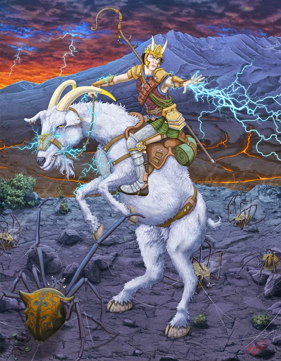 Goat Warrior by WoodardIllustration