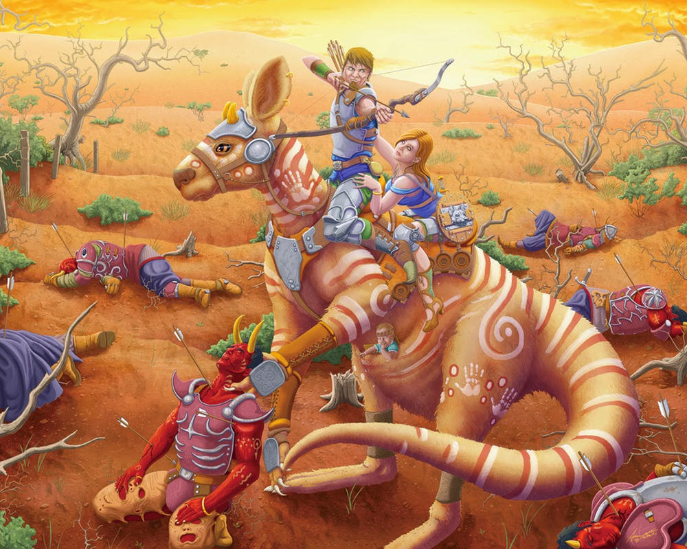 Kangaroo Man by WoodardIllustration