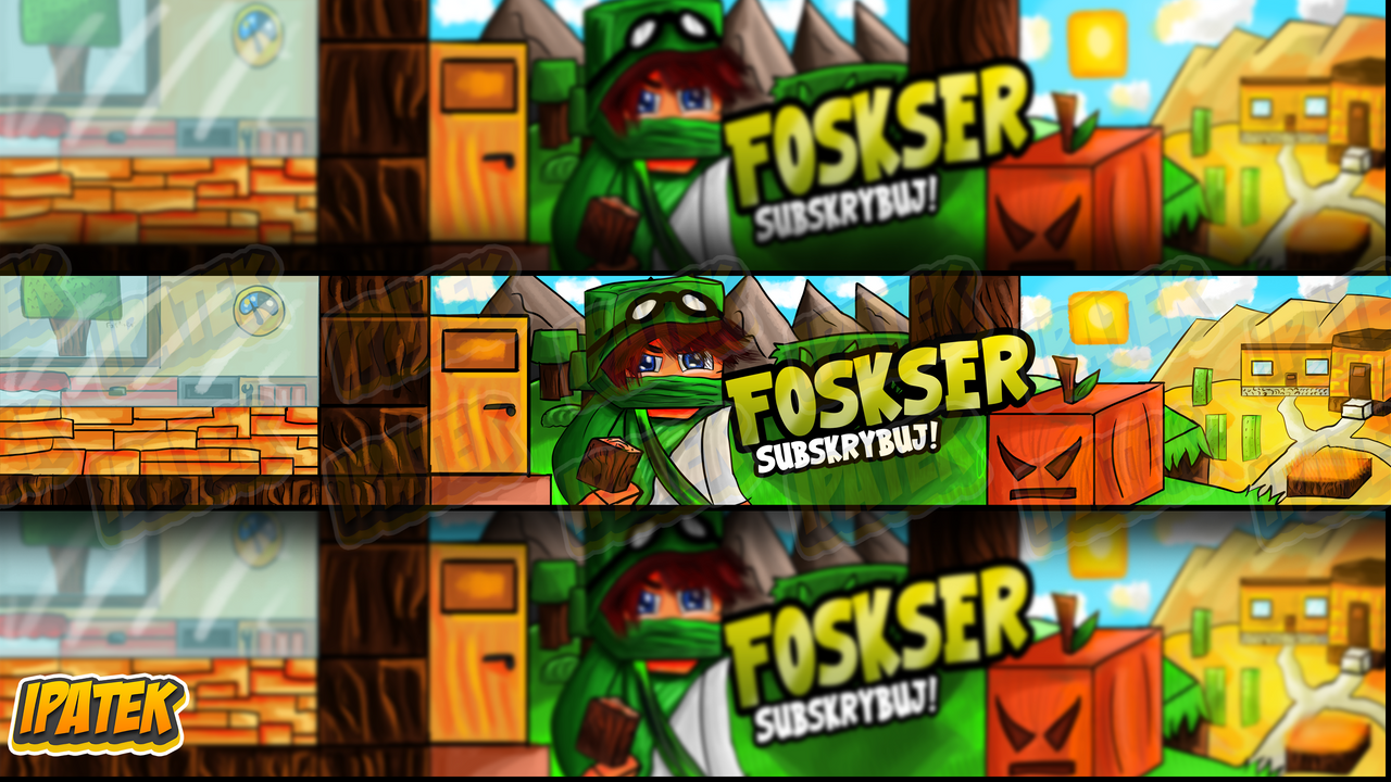 Minecraft YT Banner #4 [First art on new tablet) by iPatek