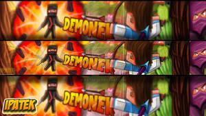 [COMISSION] YT banner for Demonek