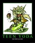 Teen Yoda Demotivator