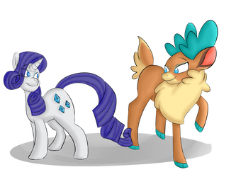 Rarity and Velvet by Heartbeat420