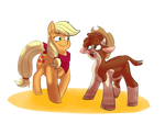 Applejack and Arizona by Heartbeat420