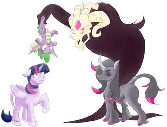 Twilight and Spike meet Oleander and Fred by Heartbeat420