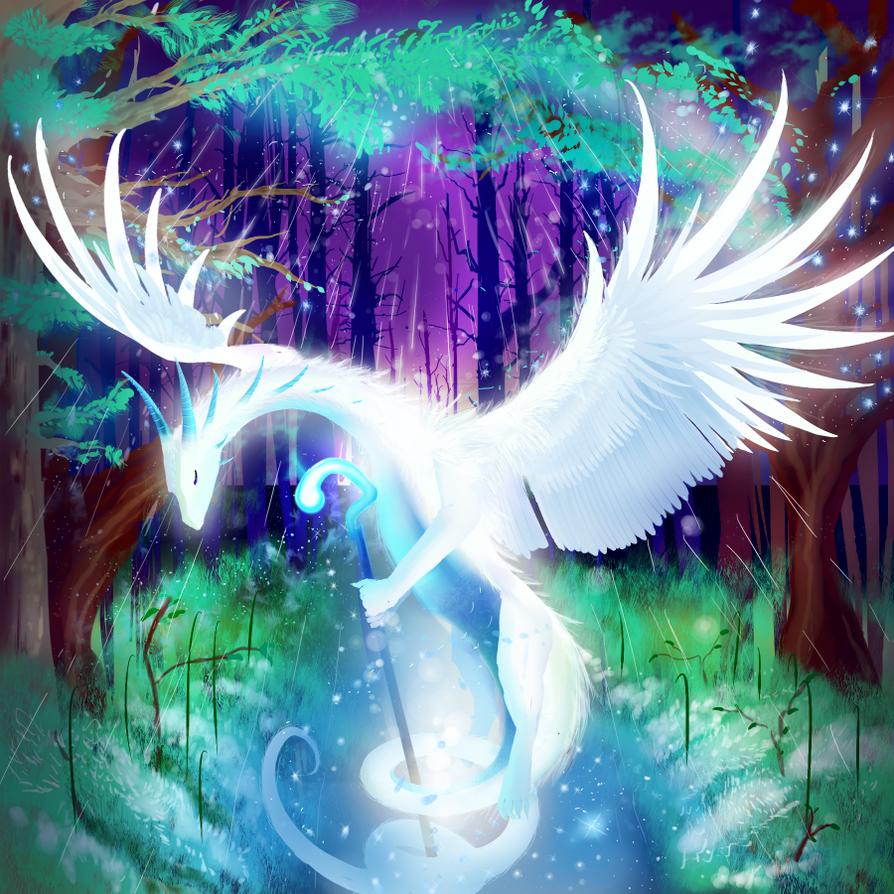 White Dragon by krastei
