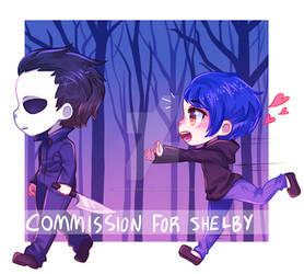 spooky chibis commission