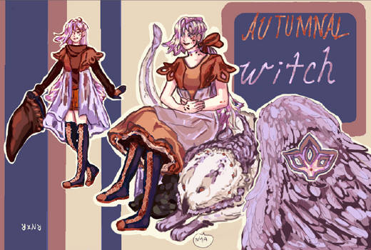 Open Adopt Auction: Autumnal Witch
