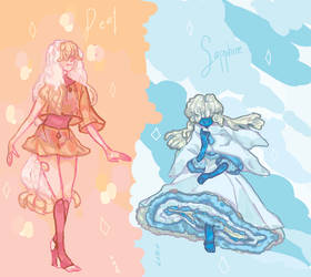 Open Set Price Gem Adopts: Pearl and Sapphire! by Rnxr