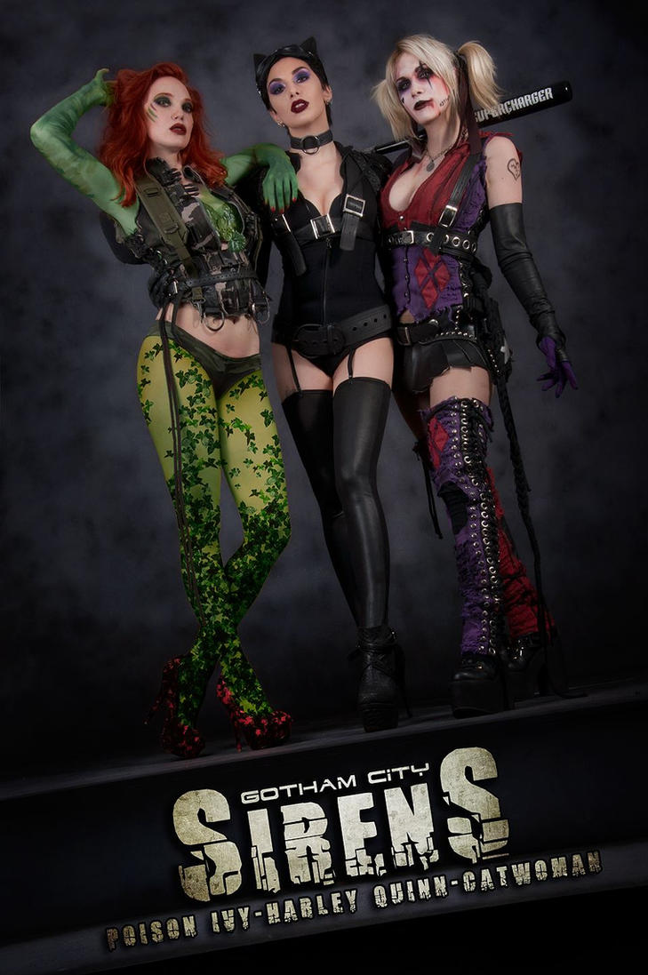 gotham city sirens by lasupercharger