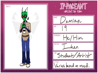 IP Pageant Entry: Damian