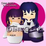 Chibi Inu and Da Grrrl