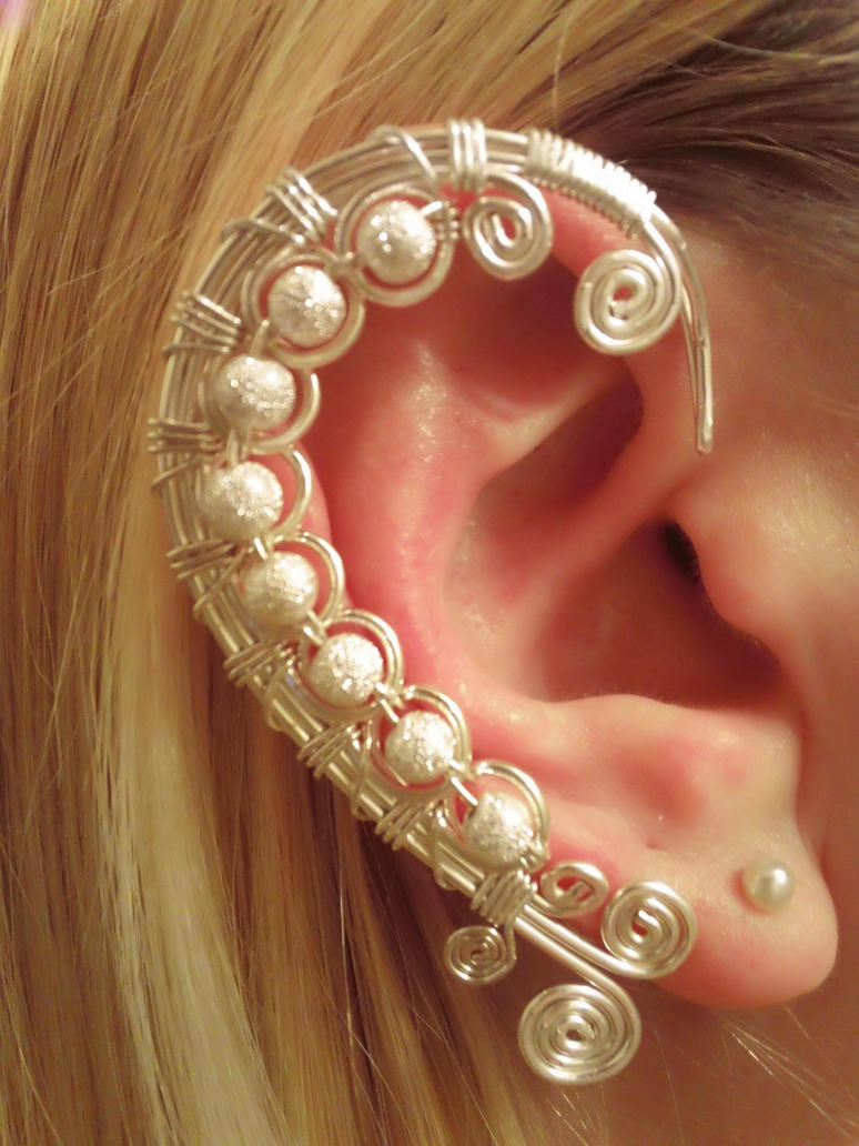 silver wire ear wrap by bendntheroad on deviantart