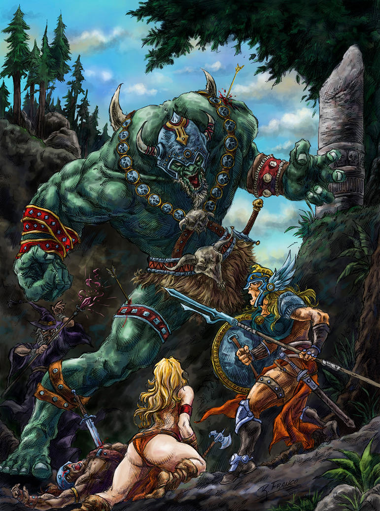 Batalha na Floresta _ color by ricardoafranco