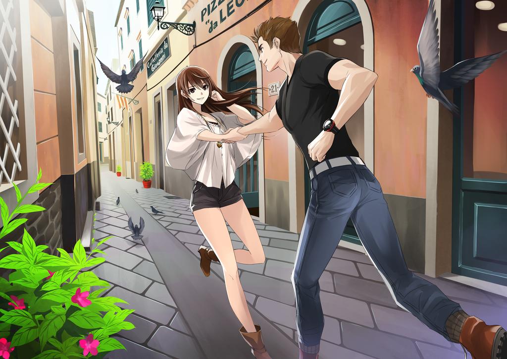 Commission - Mae & Luke by isangkutsarangmoe