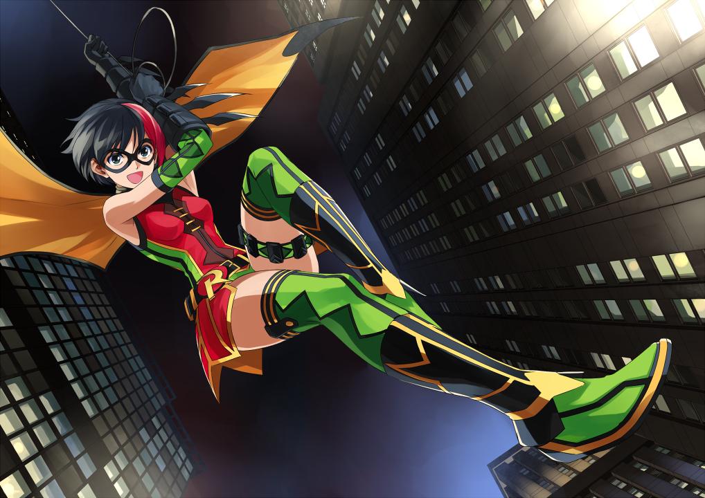 DC Ame-comi: Robin by isangkutsarangmoe