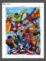 Secret Wars Sketchcard Puzzle by PencilInPain