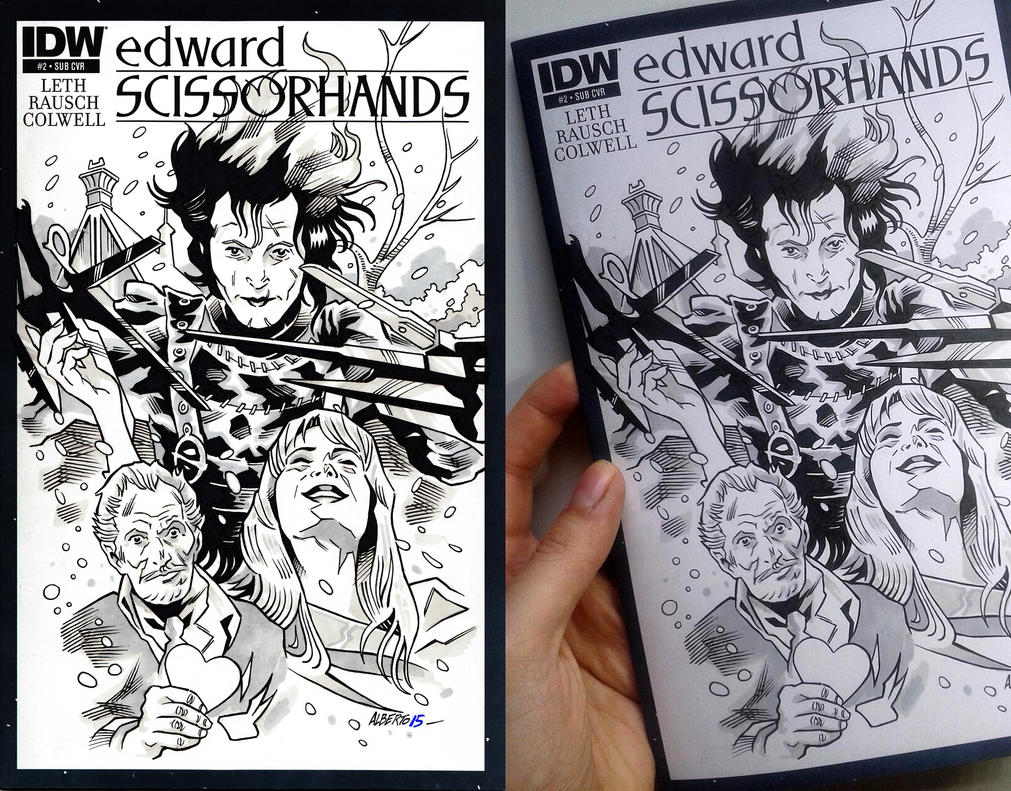 Edward Scissorhands Sketch Cover by PencilInPain