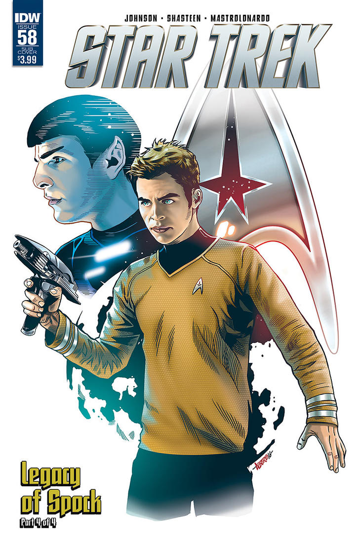 Star Trek #58 Cover by PencilInPain