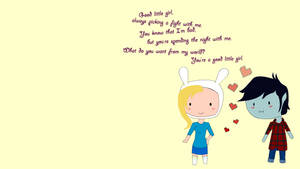Fionna and marshall lee in love wallpaper by princessxsofia