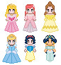 Disney Princess Sprites by Aquamarine-101