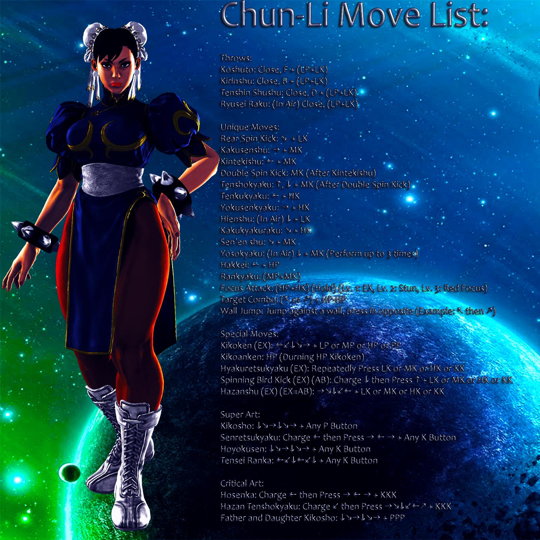 Chun-Li Custom Move List by MichiFreddy35 on DeviantArt