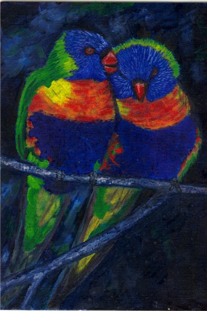 Rainbow Lorikeets by chaos-butterfly
