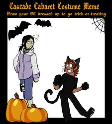 Cascade Cabaret Costume Meme Filled  by Skelwolf