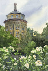 -The Tower of Roses- by RiEile
