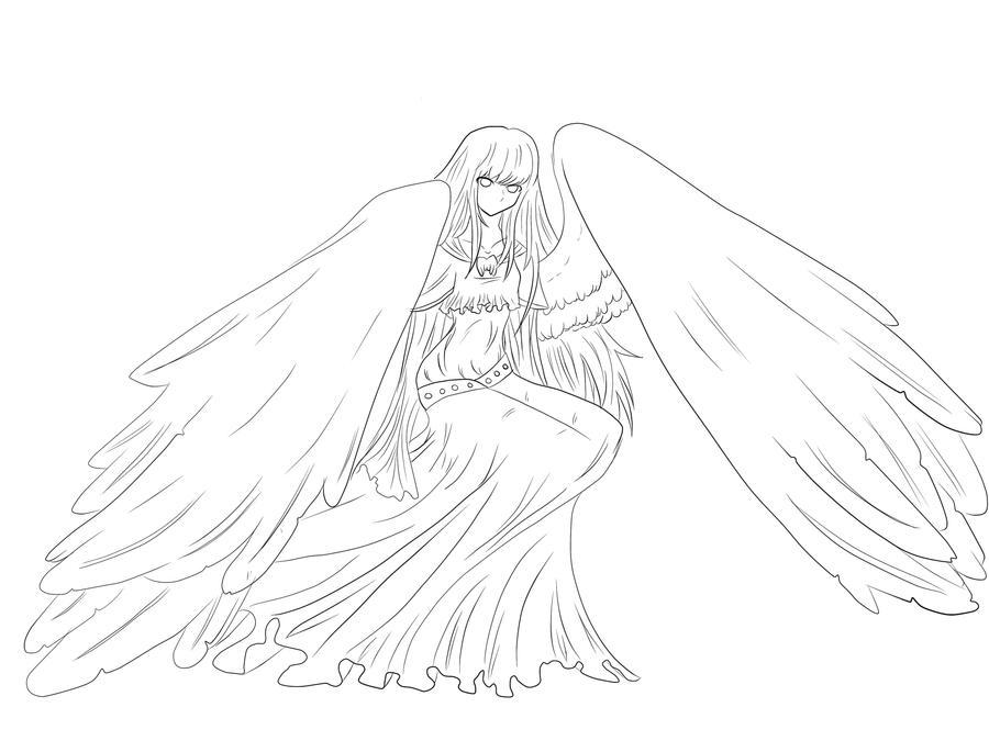 Line Art Angel : Lineart angel by iscribblechocotroll on deviantart